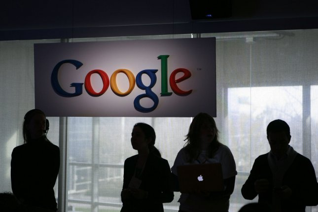 Google's Mountain View headquarters comes into the spotlight as residents protest the gentrification of the San Francisco area and rising income inequality. (UPI/Robert Galbraith/Pool)