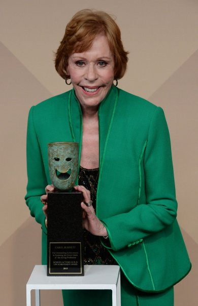 Carol Burnett is set to accept a career achievement honor at the Golden Globe Awards ceremony next month. File Photo by Jim Ruymen/UPI