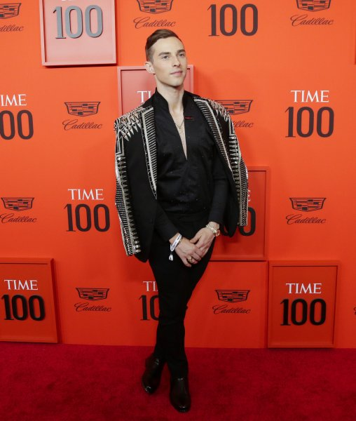 Adam Rippon arrives on the red carpet at the 2019 Time 100 Gala at Frederick P. Rose Hall, Jazz at Lincoln Center on April 23 in New York City. The figure skater turns 30 on November 11. File Photo by John Angelillo/UPI