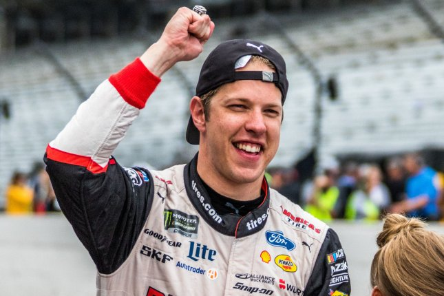 Brad Keselowski will line up his No. 2 Ford in the first position while Alex Bowman's No. 88 Chevrolet will start second in the Real Heroes 400 Sunday at Darlington Raceway in Darlington, S.C. File Photo by Edwin Locke/UPI