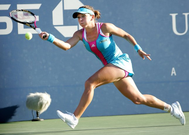 Simona Halepm shown at the 2011 U.S. Open, retired in the third set of her match Thursday at the Collector Swedish Open. It was just the second loss in her last 18 matches. UPI Photo/Monika Graff