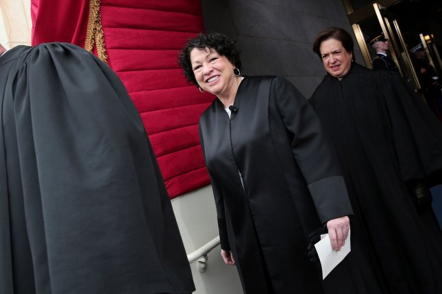 Supreme Court Justice Sonia Sotomayor arrives before the presidential inauguration on the West Front of the U.S. Capitol January 21, 2013 in Washington, DC. Barack Obama was re-elected for a second term as President of the United States. UPI/Win McNamee/POOL