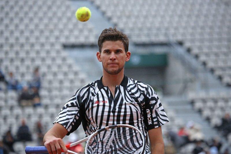Dominic Thiem of Austria. Photo by David Silpa/UPI