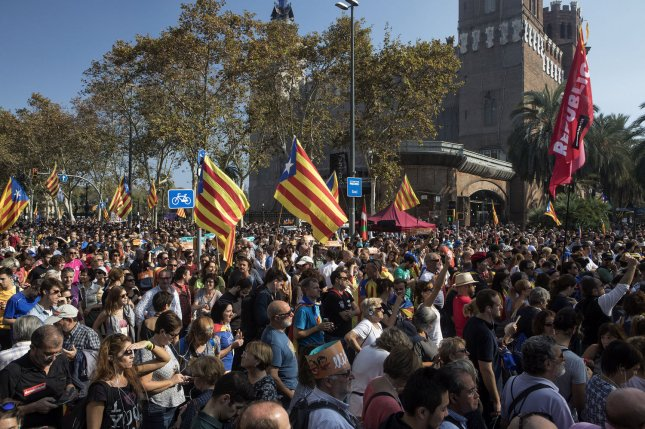 Spain on Saturday took control of the regional government of Catalonia, firing the police chief and deposing the prime minister. Photo by Xavi Herrero/ UPI