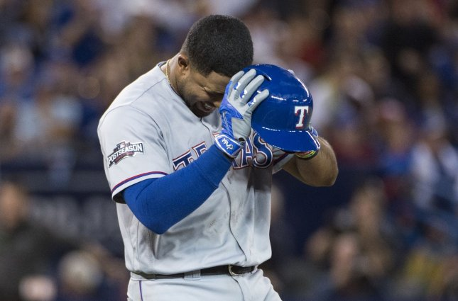 Elvis Andrus and the Texas Rangers take on the Kansas City Royals on Tuesday. Photo by Darren Calabrese/UPI