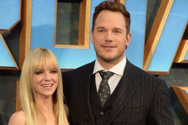 Chris Pratt (R) and Anna Faris will keep residences within five miles of each other as they co-parent son Jack. File Photo by Rune Hellestad/UPI