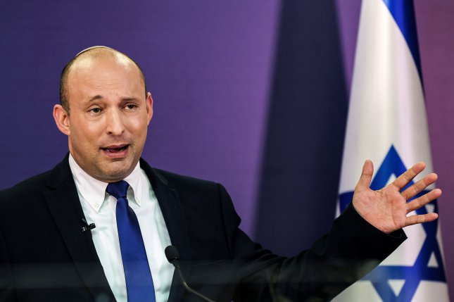 Naftali Bennett will be Israel's next prime minister after coalition agreements were signed Friday. Pool Photo by Menahem Kahana/UPI