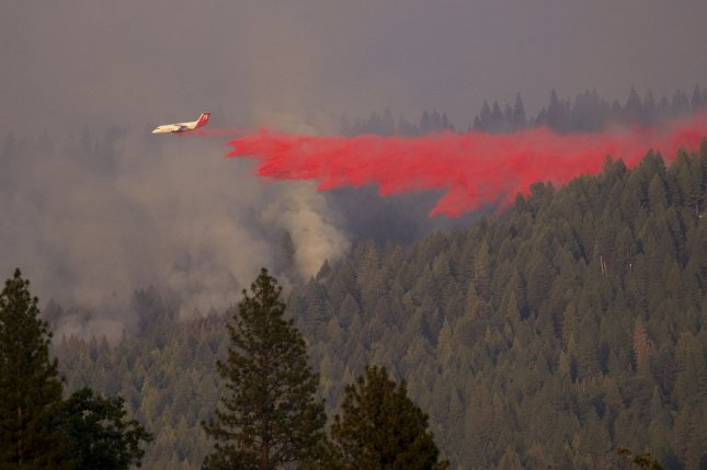 Caldor Fire, which erupted Aug. 14, has since grown to more than 168,380 acres and was only 13% contained by Sunday night. Photo by Peter DaSilva/UPI