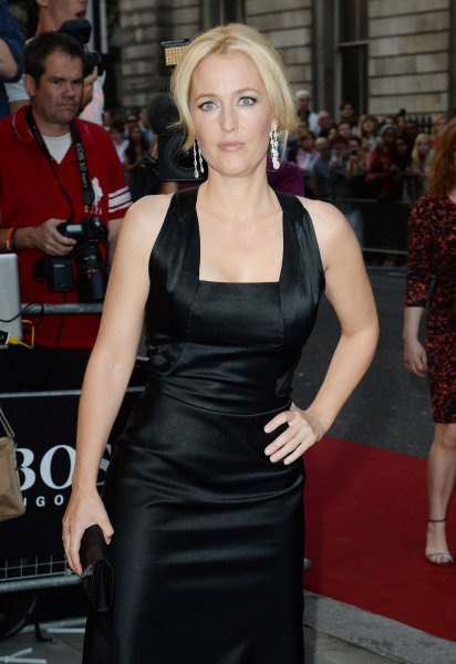 American actress Gillian Anderson attends the GQ Men Of The Year Awards at Royal Opera House in London on September 3, 2013. UPI/ Rune Hellestad