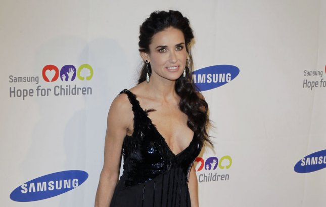 Demi Moore, who reportedly was doing whip-its with nitrous oxide, has been undergoing treatment at a Los Angeles-area hospital. UPI/John Angelillo
