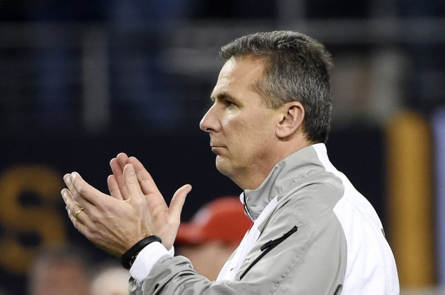 Ohio State Buckeyes head coach Urban Meyer. Photo by Kevin Dietsch/UPI