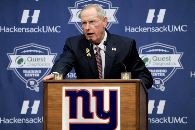 Jacksonville Jaguars executive vice president Tom Coughlin received a warning letter from the NFL after his comments about players skipping voluntary workouts. File Photo by Dennis Van Tine/UPI