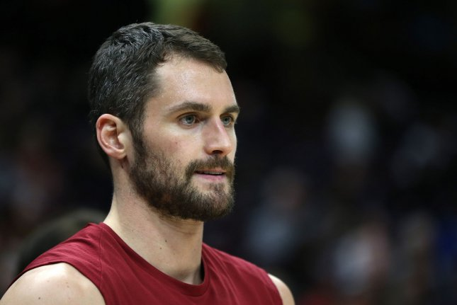 Cleveland Cavaliers forward Kevin Love will become the ninth player to skip playing for Team USA in the 2019 FIBA World Cup in China. File Photo by Aaron Josefczyk/UPI