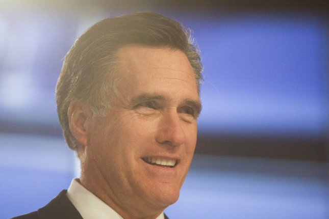 Former Massachusetts Governor, Mitt Romney is shown on stage at the Sullivan Arena at Saint Anselm College for the CNN-sponsored Republican Presidential debate in Manchester, New Hampshire on June 13, 2011. UPI/Ryan T. Conaty