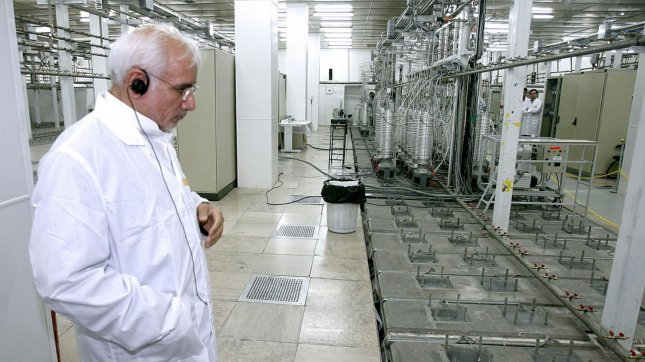 Gholamreza Aghazadeh, head of Iran's Atomic Energy Organization visits the Natanz uranium enrichment facilities 200 miles (322 km) south of the Tehran, Iran. (UPI Photo/President's official website)