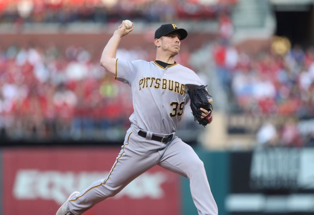 Chad Kuhl and the Pittsburgh Pirates take on the San Diego Padres on Thursday. Photo by Bill Greenblatt/UPI