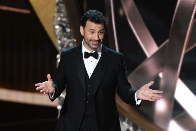 ABC said comedian Jimmy Kimmel will dedicate Monday's edition of his Live! show to the end of the first half of U.S. President Donald Trump's term in the White House. File Photo by Jim Ruymen/UPI