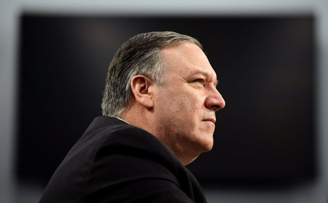 U.S. Secretary of State Mike Pompeo has renewed calls on Venezuelan President Nicolas Maduro to step down and allow international aid into his country. Photo by Kevin Dietsch/UPI