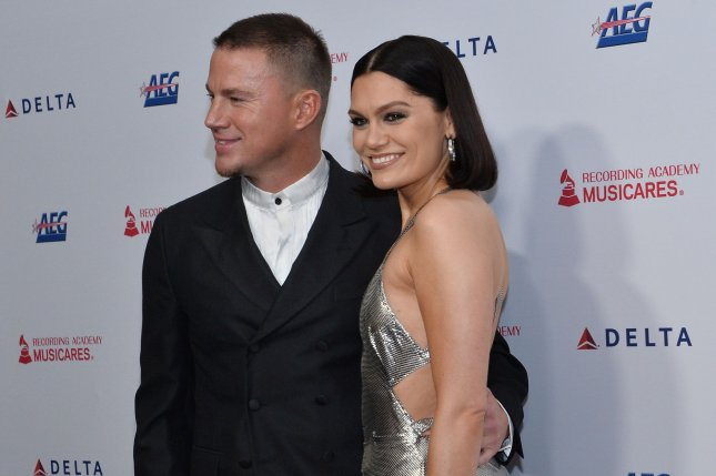 Jessie J (R) voiced her gratitude for her ex-boyfriend, Magic Mike star Channing Tatum, on his birthday. File Photo by Jim Ruymen/UPI