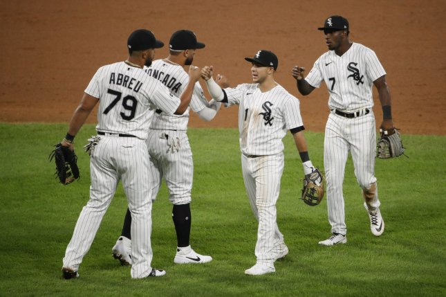 With Thursday's victory, the Chicago White Sox clinched their first postseason berth since 2008. Photo by Kamil Krzaczynski/UPI
