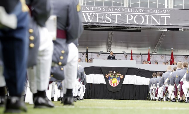 The West Point graduation ceremony takes place at Michie Stadium at the United States Military Academy at West Point, New York on May 28, 2014. During the 2015-16 academic program year, U.S. military academies reported 86 sexual assaults -- five fewer reports of sexual assault when compared to the 2014-2015 report. Sexual assault reports increased at the Naval Academy and at West Point, but decreased at the Air Force Academy. File Photo by John Angelillo/UPI
