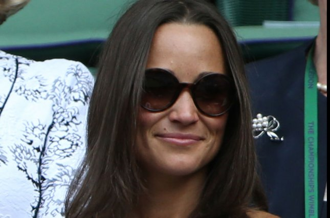 Pippa Middleton at the Wimbledon Championships in London on June 26, 2014. Middleton married her longtime beau James Matthews Saturday. File Photo by Hugo Philpott/UPI