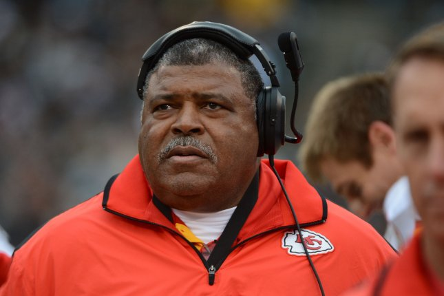 Former Kansas City Chiefs head coach Romeo Crennel watches his team go scoreless against the Oakland Raiders on December 16, 2012 at O.co Coliseum in Oakland, California. File photo by Terry Schmitt/UPI