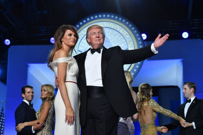 President Donald Trump and first lady Melania Trump dance at the Freedom Ball on January 20, 2017, in Washington, D.C. It was one of a series of balls to cap off his Inauguration. File photo by Kevin Dietsch/UPI