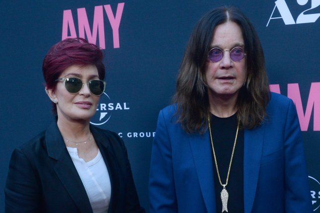Ozzy Osbourne (R), pictured with Sharon Osbourne, canceled shows in Australia, New Zealand and Japan on Monday. File Photo by Jim Ruymen/UPI