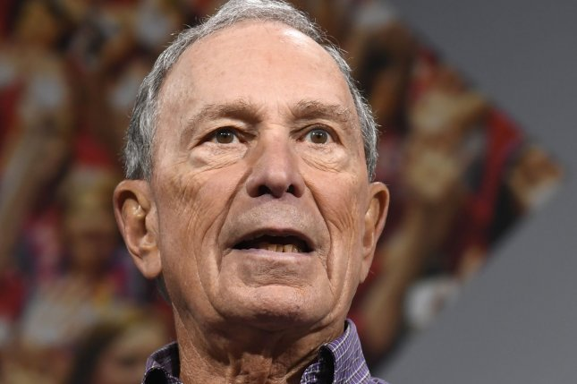 Former New York City Mayor Michael Bloomberg makes remarks at a Gun Safety Forum in Des Moines, Iowa, on August 10. He officially announced Sunday he was running for president but won't run in the Iowa caucus. File Photo by Mike Theiler/UPI