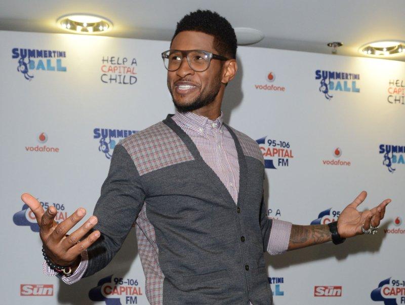 American singer Usher attends Capital FM Summertime Ball at Wembley Stadium in London on June 9, 2012. UPI/Rune Hellestad