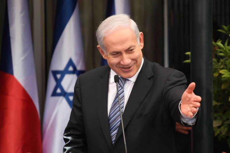Israeli Prime Minister Binyamin Netanyahu gestures during a news conference in Jerusalem Sept. 15, 2011. UPI/Gali Tibbon/Pool
