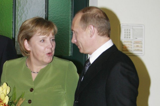 German Chancellor Angela Merkel and Russian President Vladimir Putin, pictured in 2007. (UPI Photo/Anatoli Zhdanov)