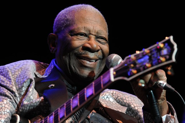 Blues singer-guitarist B.B. King passed away at his Las Vegas home on Thursday, May 14, 2015, his attorney said. A legendary figure in the genre, King scored multiple No. 1 hits, perhaps none bigger than The Thrill is Gone from 1969. File Photo by UPI/Rune Hellestad.