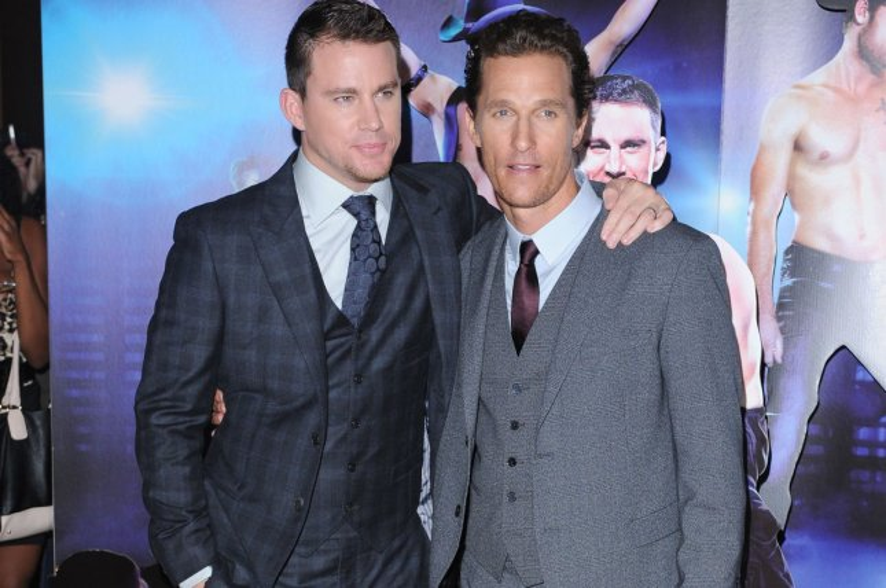 Channing Tatum and Matthew McConaughey shake a moneymaker in Magic Mike on Netflix in February. UPI/Paul Treadway