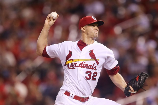 Jack Flaherty and the St. Louis Cardinals face the Los Angeles Dodgers on Friday. Photo by Bill Greenblatt/UPI