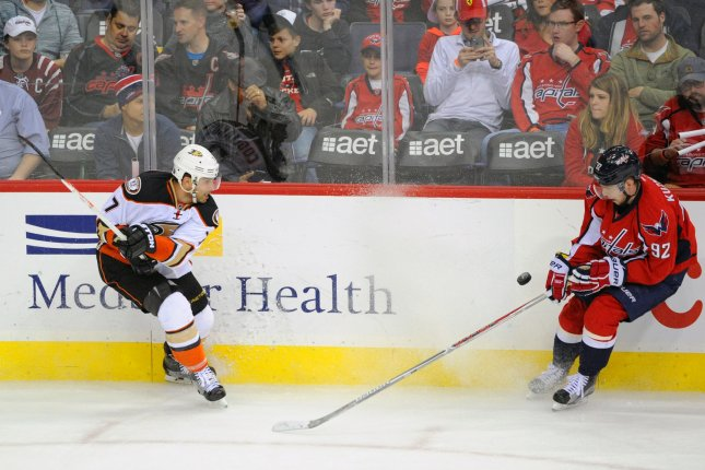 654642c47 Anaheim Ducks forward Andrew Cogliano (7) was traded to the Dallas Stars on  Monday in exchange for forward Devin Shore. File photo by Mark Goldman UPI  ...