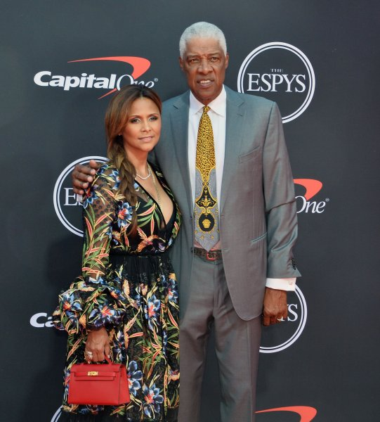 Julius Erving, aka Dr. J, and his wife, Dorys Madden, attend the 27th annual ESPY Awards at the Microsoft Theater in Los Angeles on July 10. Dr. J turns 70 on February 22. File Photo by Jim Ruymen/UPI
