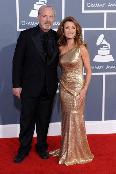 Actress Jane Seymour and her husband, actor James Keach arrive at the 54th annual Grammy Awards at Staples Center in Los Angeles on February 12, 2012. UPI/Jim Ruymen
