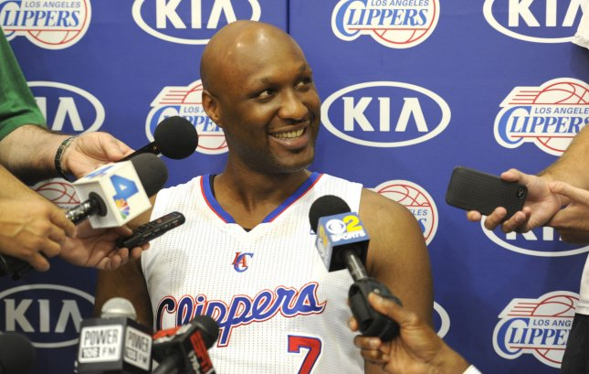 Los Angeles Clippers' Lamar Odom said he cheated on Khloe Kardashian because his friends brought girls around. UPI/Lori Shepler