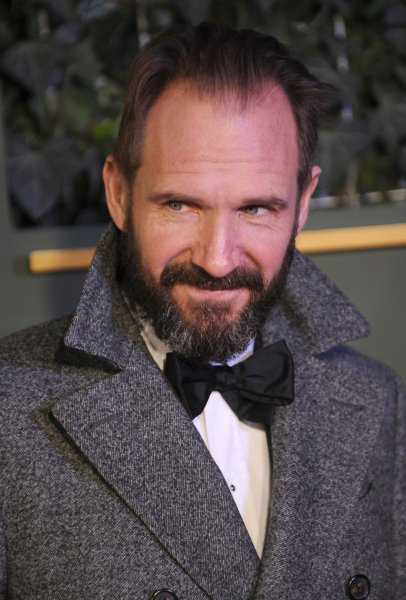 Ralph Fiennes at the Evening Standard Theatre Awards on November 21, 2015. The actor plays director Laurence Lorenz in Hail, Caesar! File Photo by Paul Treadway/UPI