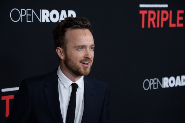 Aaron Paul attends the premiere of the crime thriller Triple 9 at Regal L.A. Live in Los Angeles on February 16, 2016. Photo by Jim Ruymen/UPI