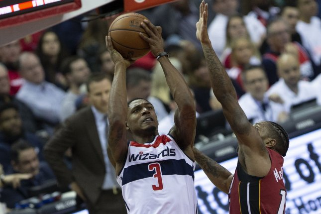 Bradley Beal and the Washington Wizards square off with the Oklahoma City Thunder on Friday. Photo by Alex Edelman/UPI