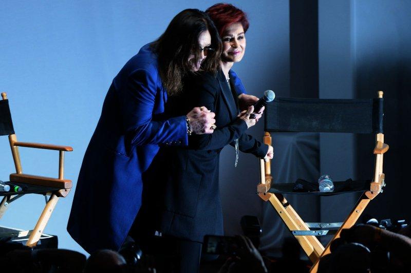 Ozzy Osbourne (L) and Sharon Osbourne will serve as presenters Sunday at the Grammy Awards. File Photo by Jim Ruymen/UPI