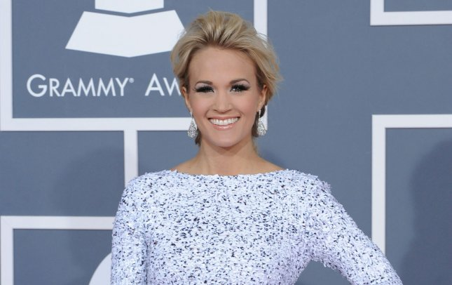 Carrie Underwood arrives at the 54th annual Grammy Awards at the Staples Center in Los Angeles on February 12, 2012. UPI/Jim Ruymen