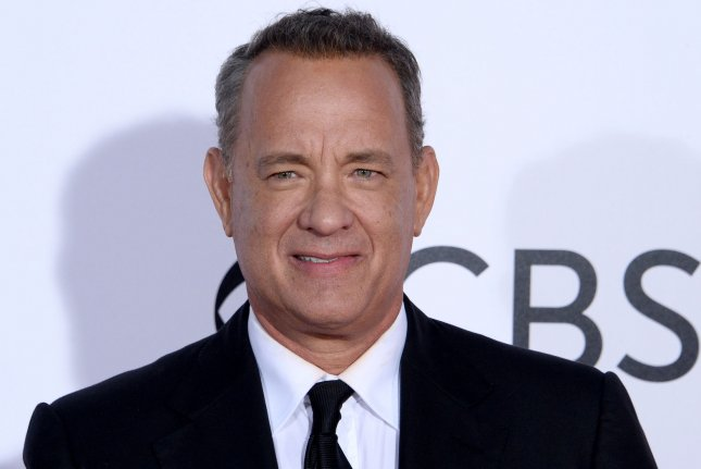 Tom Hanks posted on social media a photo of himself delivering his final line as Woody for Toy Story 4. File Photo by Jim Ruymen/UPI