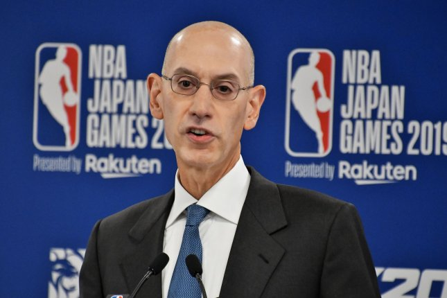 NBA commissioner Adam Silver said the league will not resume play until public health officials say it is safe to return to the court amid the coronavirus outbreak. File Photo by Keizo Mori/UPI