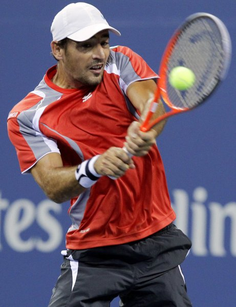 Ivan Dodig, shown at the 2012 U.S. Open, posted a first-round win Tuesday at the ATP's Open 13 tennis tournament in Marseille, France. UPI/John Angelillo