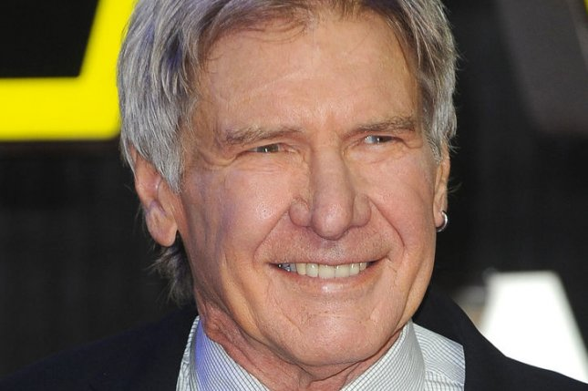 """Actor Harrison Ford attends the European premiere of """"Star Wars: The Force Awakens"""" in London, December 16, 2015. Photo by Paul Treadway/ UPI"""