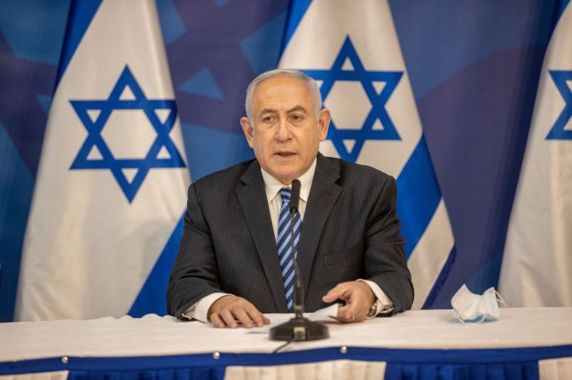 Israeli Prime Minister Benjamin Netanyahu said that any attack on Israel will be met with great force after the Israel Defense Forces stopped an attack by Hezbollah militants near Mount Dov. Pool Photo by Tal Shahar/UPI